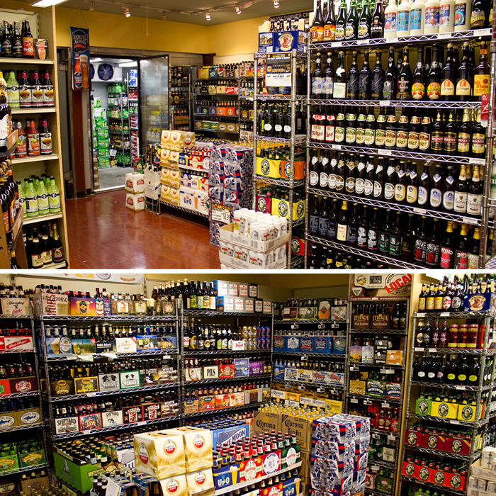 picture of many different brands of beer on shelves