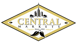 Central Markets Logo scrolls to Take a Tour Section