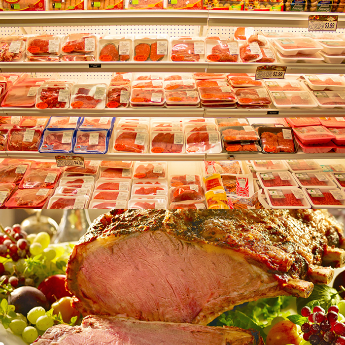 picture of meat in meat case